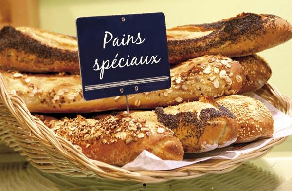 pains spéciaux, specialty breads