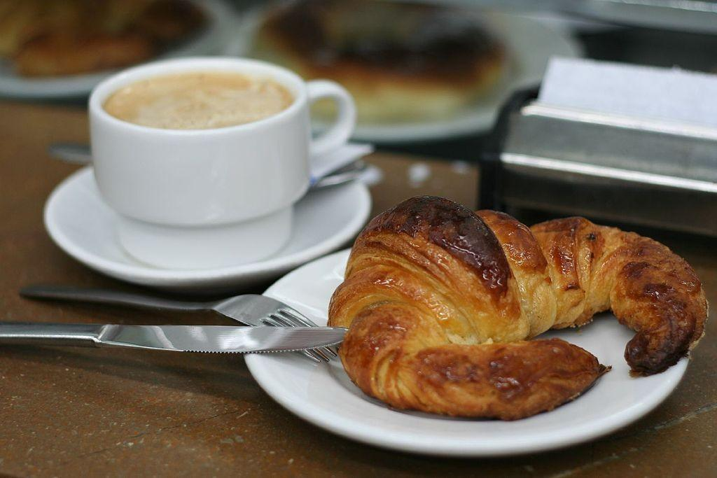 croissant and coffee Paris Food and drink