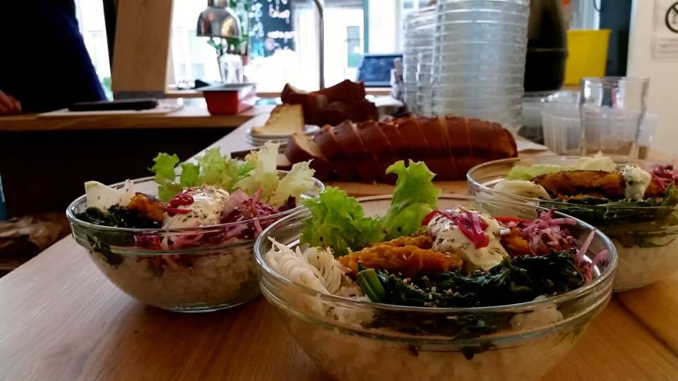 Organic Food in Paris. Salad