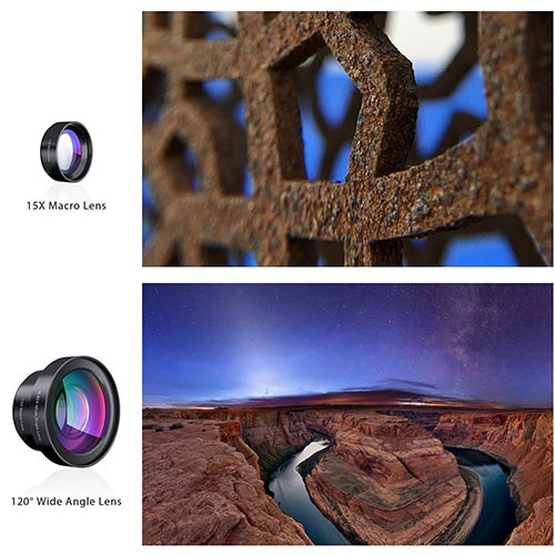 Clip-on Wide Angle & Macro Camera Lens