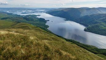 Loch Lomond, looking south from Ben Lomond